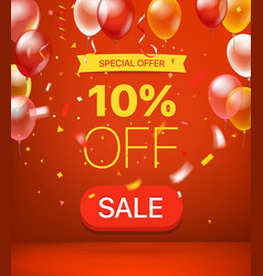 Special offer concept 10 percent off vector