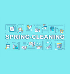 Spring cleaning word concepts banner seasonal vector