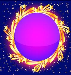 Star burst frame vector