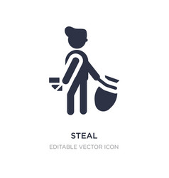 Steal icon on white background simple element vector