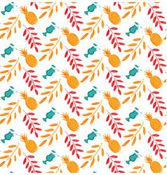 summer seamless pattern template brush vector image