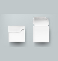 tea package mockup paper or carton box front view vector image