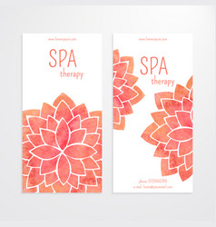Templates of banners watercolor red lotus vector