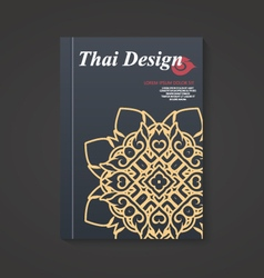 Thai art Pattern Flyer design Layout in A4 size vector image
