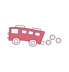 The red bus vector