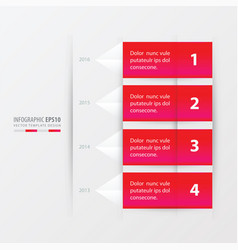 timeline report template pink gradient color vector image