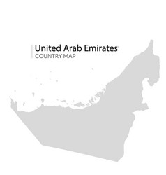 uae dubai map united arab emirates country vector image