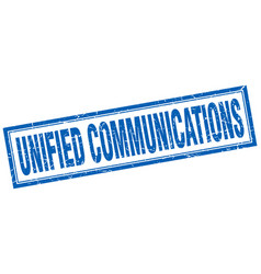 Unified communications square stamp vector