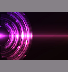 violet circle digital abstract sheet background vector image