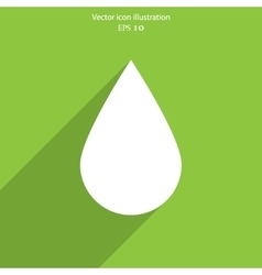 Water drop flat icon vector image