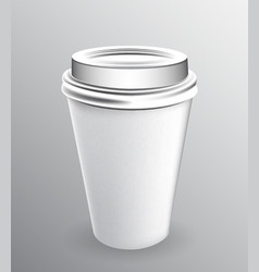 white paper cup for hot coffee vector image
