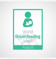 World breast feeding week icon vector