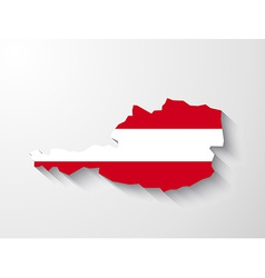 Austria map with shadow effect vector image vector image