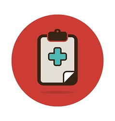 Clipboard flat icon Medical vector image