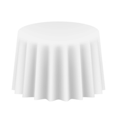 Empty Round Table Cloth Isolated vector image