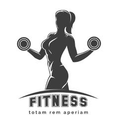 Fitness Club Emblem vector image vector image