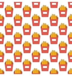 French fries pattern seamless vector image