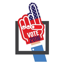 Hand foam vote 2016 vector