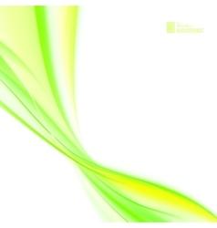 Shining green flow vector image vector image