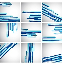 Straight liquid line background set vector image