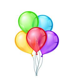 Celebratory balloons on isolated vector image