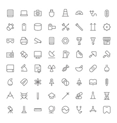 icons line blacks tech industrial science medical vector image vector image