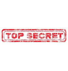 red grunge top secret vector image