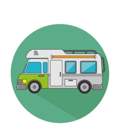 Trailer travel car isolated icon vector