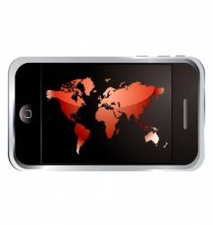 world phone vector image vector image