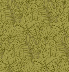 seamless pattern with highly detailed hand drawn vector image vector image