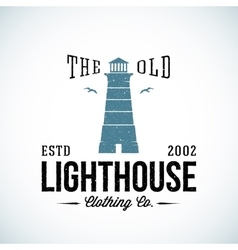 The Old Lighthouse Nautical Abstract Retro vector image vector image