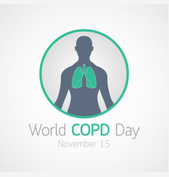 world copd day icon vector image vector image