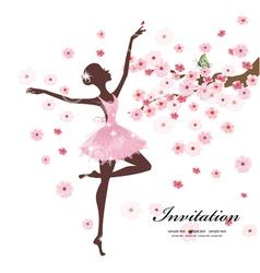 Ballerina Invitation Card vector image
