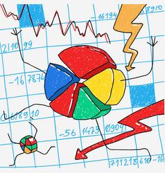 Cartoon financial crisis vector
