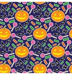 Halloween seamless pattern 3 vector image vector image