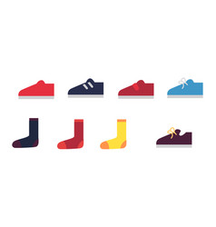 men cartoon sneakers and socks set vector image