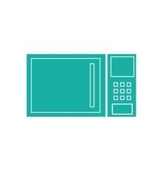 Microwave kitchen appliance vector
