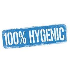100 hygenic sign or stamp vector image