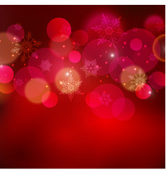 Abstract Christmas light background with bokeh vector
