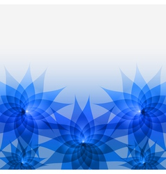 Abstract floral background with blue flowers vector