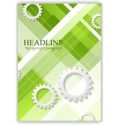 Abstract hi-tech minimal background with gears vector