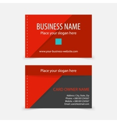 Abstract modern red business cards vector image