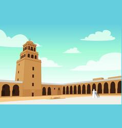 Al-qirawan landmark building in riyadh vector