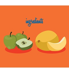 apples melon vector image