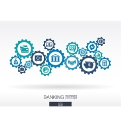 Banking mechanism Abstract background with vector