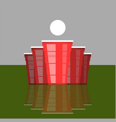 Beer pong tournament red cups and white tennis vector