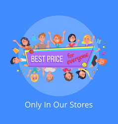 best offer for everyone promotional poster people vector image