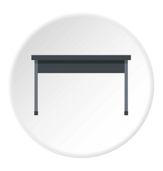 black desk icon circle vector image