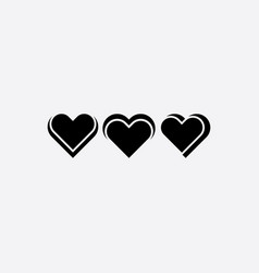 black heart icons design element vector image
