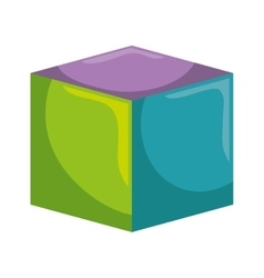 block toy kid isolated icon vector image